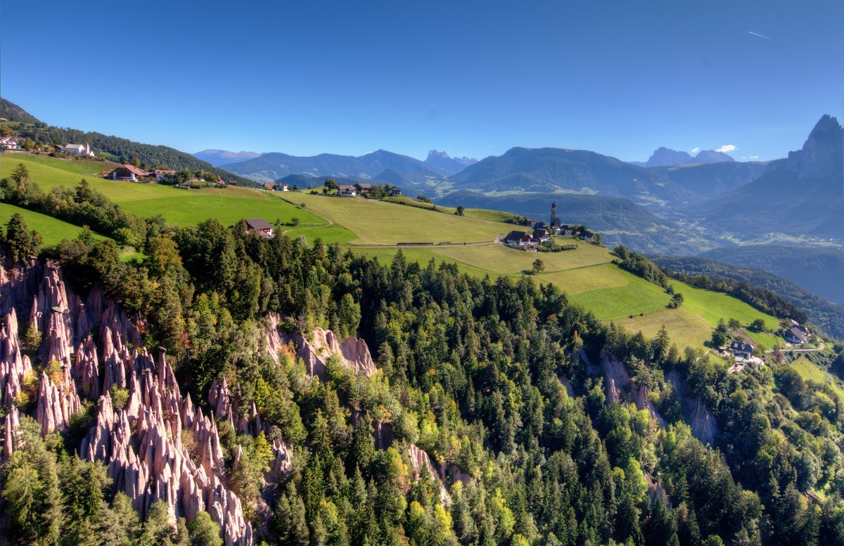 Renon Earth Pyramids Natural UNESCO World Heritage in the Dolomites South Tyrol