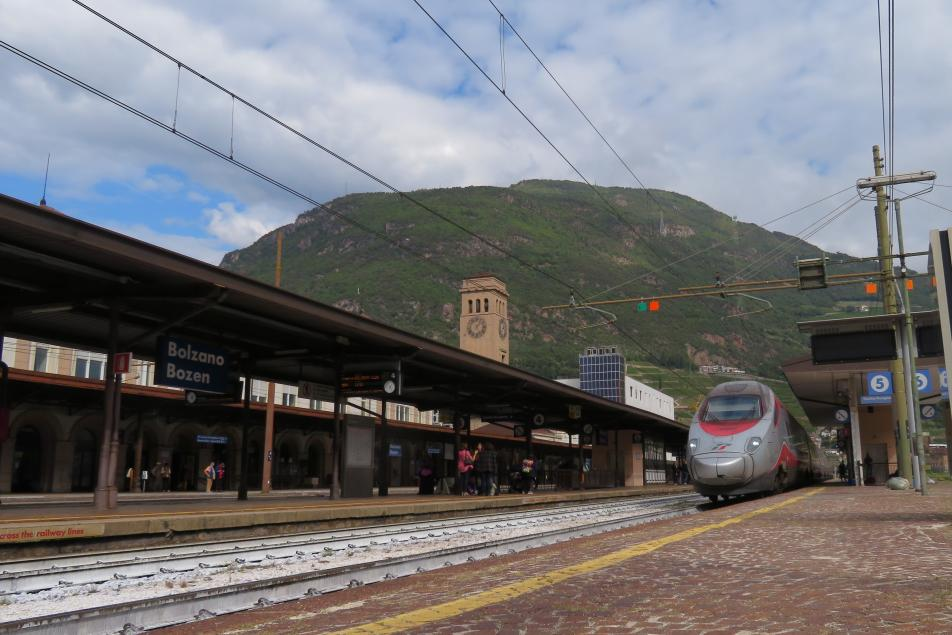 Train Station Bolzano City Mountain Renon Public Transport in Italy Holidays South Tyrol