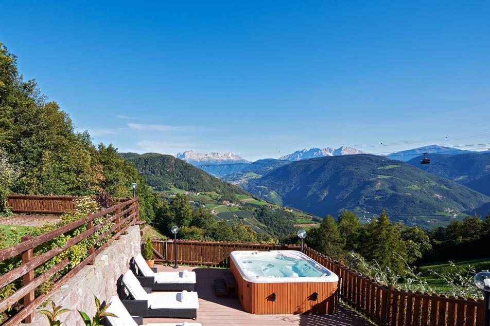 Alpine Spa Resort Long Weekend Getaways Dolomites Panorama Whirlpool Mountain View