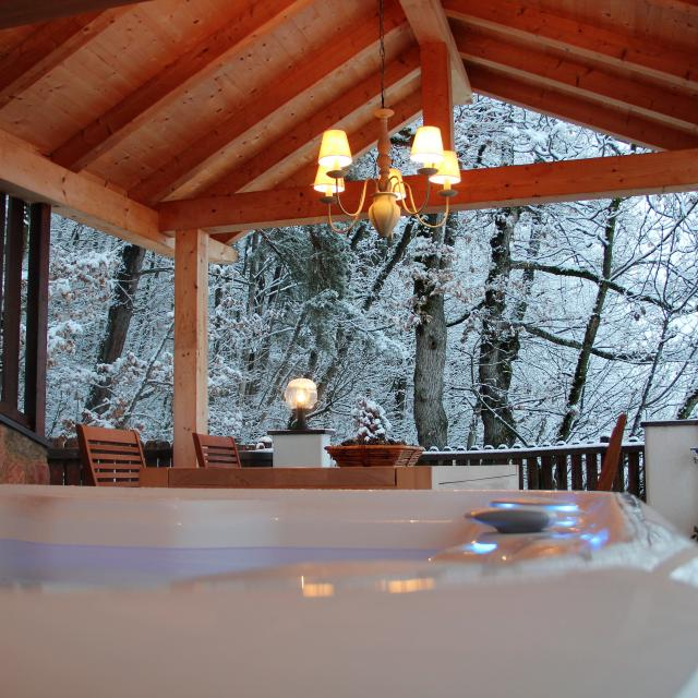 Christmas Markets Bolzano Winter Holidays in South Tyrol Outdoor Whirlpool with panoramic view