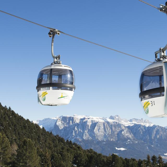 Cable Car up to Renon Mountain South Tyrol Holidays in the Dolomites
