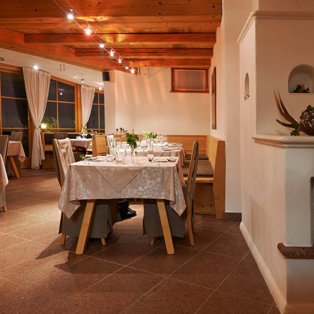 Rustic and cosy Gourmet Restaurant in South Tyrol with fireplace and great panorama