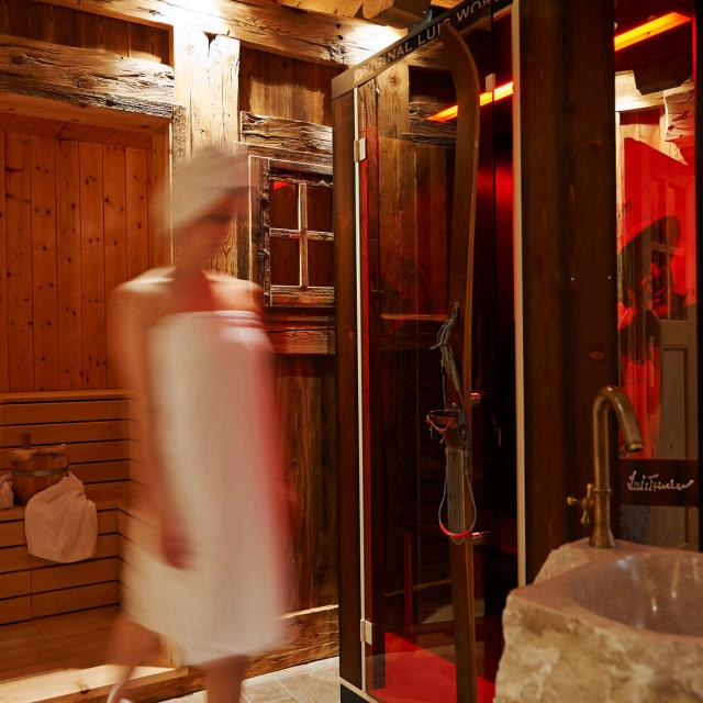 Sauna Wellness and Spa in the Dolomites Chalet of South Tyrol