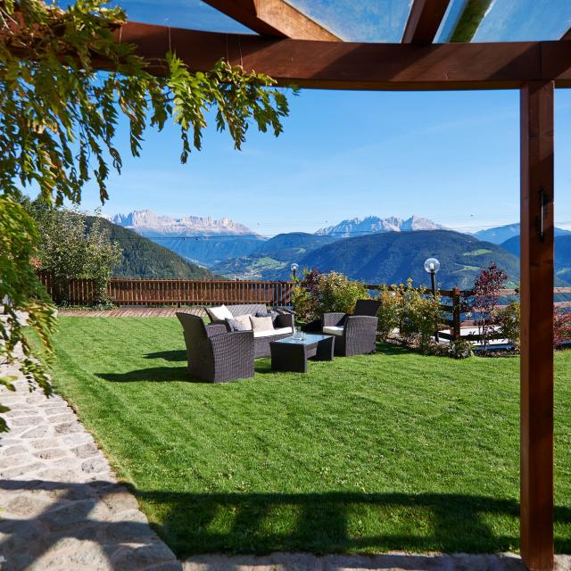 Chalet in South Tyrol Terrace and Garden Lounge in Nature