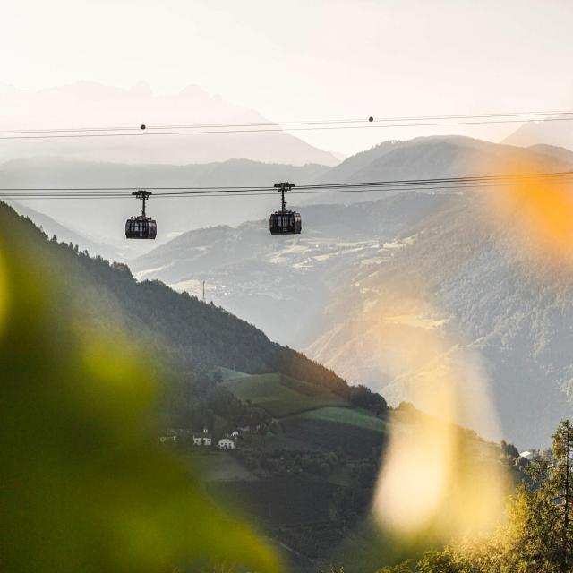 View to the cable car