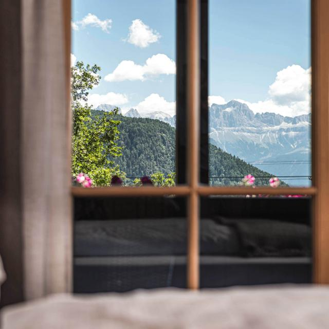 Detail of the view from Dolomiti Suite bedroom
